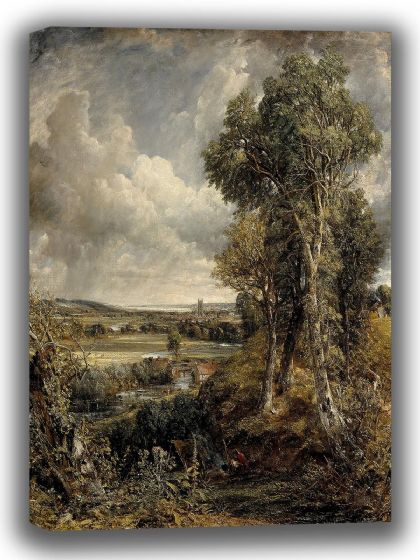 Constable, John: The Vale of Dedham. Fine Art Canvas. Sizes: A4/A3/A2/A1 (0066)